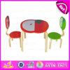 2015 Solid Wood Kids Table and Chairs for Preshool, Children Wooden Table and Chair, Apple Design Wooden Toy Table Chairs Wo8g142