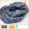 100% Acrylic Fashion Blue & White Warp Knitted Neck Scarf