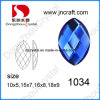 New Fashion Flat Back Navette Mirror Glass Beads for Garment
