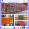 USA Teardrop Pallet Racking with Pitch 50.8mm for Warehouse Storage