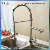 Single Lever Brass Pull out Brushed Kitchen Tap Mixer