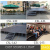 Outdoor Wedding Stage / Combined Aluminum Roof Stage Outdoor Concert