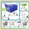 180L Plastic Shopping Trolley Shopping Cart