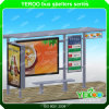 Aluminum Bus Station Shelters with Advertising Double Sided Light Box Stainless Steel Bus Stop