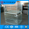 Industrial Collapsible Galvanized Steel Wire Mesh Container
