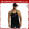 Men′s Black Sports Youth Screen Printed Singlets (ELTMBJ-615)