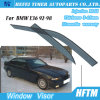Sun Chrome Side Window Visor Vent Guards Rain for BMW E36 92-98
