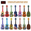 All Linden Plywood Colorful 21 Inch Soprano Ukulele Ukuleles