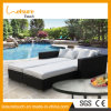 Pool Beach Holiday Resort Garden Furniture Rattan Double Daybed Lounger Sofa Chair