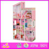 2014 Fashion New Wooden Dollhouse Toy, Educational Children Dollhouse Toy, Hot Sale 3D Wooden Baby Dollhouse Toy W06A046