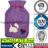 CE Heart Dog Fabric Hot Water Bottle Cover