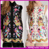 2014 New Designer Printed Flora Fashion Women Coat (C0001)