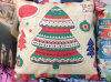 Christmas Trees Printed Patterm Cushions for Sale
