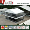 a Shaped Top Double Decker 2 Floors Tent with Wooden Flooring
