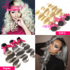 Human Hair Weave Vendors Body Wave Ombre Colored Hair Extensions