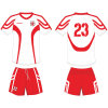 Customized Mens Football Uniform Kits with Mesh Fabric