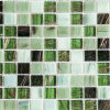 Green Color Glass Mosaic Tile