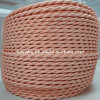Braided Twisted Cloth-Covered Wire (Baby Pink)
