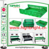 Plastic Transportation Logistics Crate for Supermarket Fresh Vegetables and Fruits