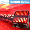72X10W RGBW Quad IP65 LED Wall Washer Light