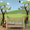 Full Color Printing Large Size Jungle Animals Murals Wallpaper for Kids Room