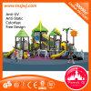 Leaf Roof Kids Slide Amusing Plastic Bridge Playground