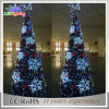 Outdoor Metal Wire Christmas Tree Snowflake Decoration Light