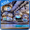 Party Mirror Ball for Fashion Show, Silver Inflatable PVC Mirror Balloon for Disco