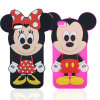 Mickey Minnie Series DOT Silicone Cell Phone Case for iPhone 7 Galaxy J5 J7 (XSD-061)