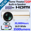 Portable LED Data Show Video Home Theater Projector with USB