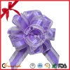 Gift Decoration Purple Organza Ribbon Pull Bow