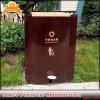 Office Waste Bin Indoor and Outdoor Use Metal Trash Can Customized Dustbin