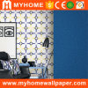 2016 Modern New Blue Design Wallcovering PVC Wall Paper 3D