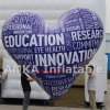 LED Balloons Inflatable PVC Material Heart Balloon