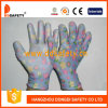Ddsafety 2017 Flower Design Nylon White PU Glove