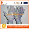 Ddsafety 2017 Flower Design Nylon White PU Glove