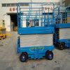 Aerial Man Trailer Mobile Scissor Lift Platform with Four Supporting Wheels