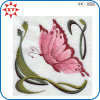 Exquisite Fine Detail Pink Butterfly Embroidery Badge