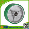 Green PU on Cast Iron Core Trolley Wheels for Caster