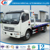 Dongfeng 4X2 Platform Wrecker Truck with Multi-Function