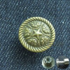 Vintage Brass Fix Metal Button for Jeans Denim