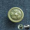 Vintage Brass Fix Metal Button for Jeans Denim