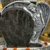 Orion Blue Granite Angel Memorials Headstone