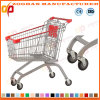 Euro Style High Quality Zinc or Chrome Supermarket Shopping Trolley Carts (ZHt258)