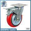 Heavy Duty Iron Core PU Locking Caster Wheel (arc)
