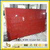 Polished Crystal Red Artificial Quartz Slabs for Kitchen Countertops (YQC)