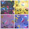 Oxford 600d Colorful Flowers Heat Transfer Printing Polyester Fabric