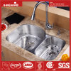"34 ""X 20-1/2"" Stainless Steel Under Mount Double Bowl Kitchen Sink with Cupc Approved"