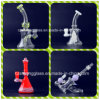 Shining Color Change Simple Design Small Glass Smoking Water Pipe
