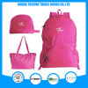 Hot Sale Rose Red Foldable Bag Backpack Tote Bag Two Usage